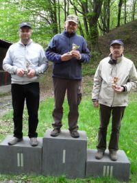 Víťazná trojica (zľava) D. Bublák, S. Valach a J. Svetík