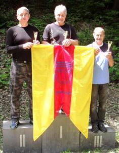 Víťazná trojica Žarnovickej 60-ky (zľava) M. Slančík, I. Bublák aJ. Gocník
