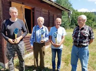 Na fotografii štvorica reprezentantov Žarnovice (zľava) M. Slančík, A. Kukla, J. Gocník aP. Ozank